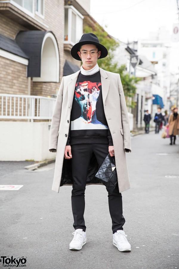 Givenchy Sweatshirt, Zara Coat, Bao Bao Bag & Nike in Harajuku