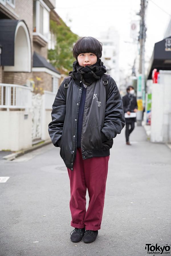 Short-Haired Harajuku Girl w/ Bunkaya Zakkaten & Chicago Resale Fashion
