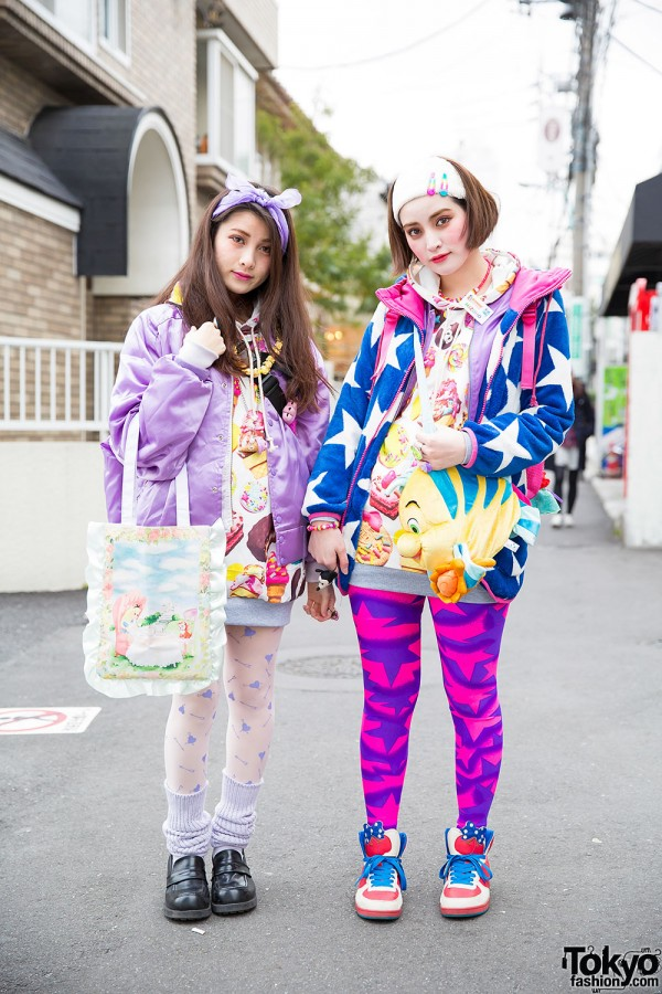 Harajuku Sisters in Ice Cream Tops, w/ 6%DokiDoki, Disney, WEGO & Swimmer Items