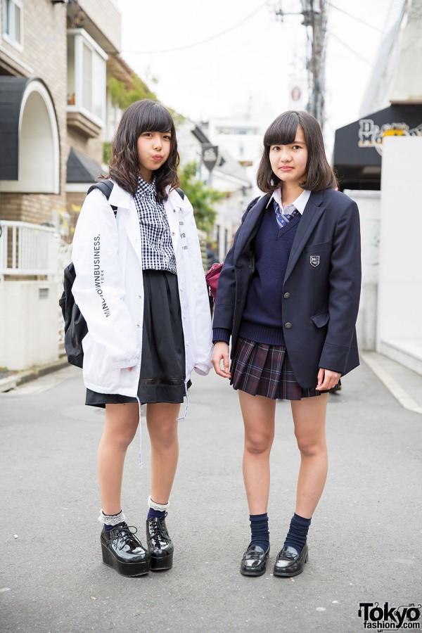 Harajuku School Girls in Seifuku, MYOB NYC, WEGO & Platforms