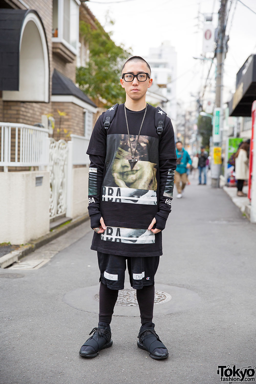 Harajuku Streetwear Guy W Hood By Air Pyrex Sprayground