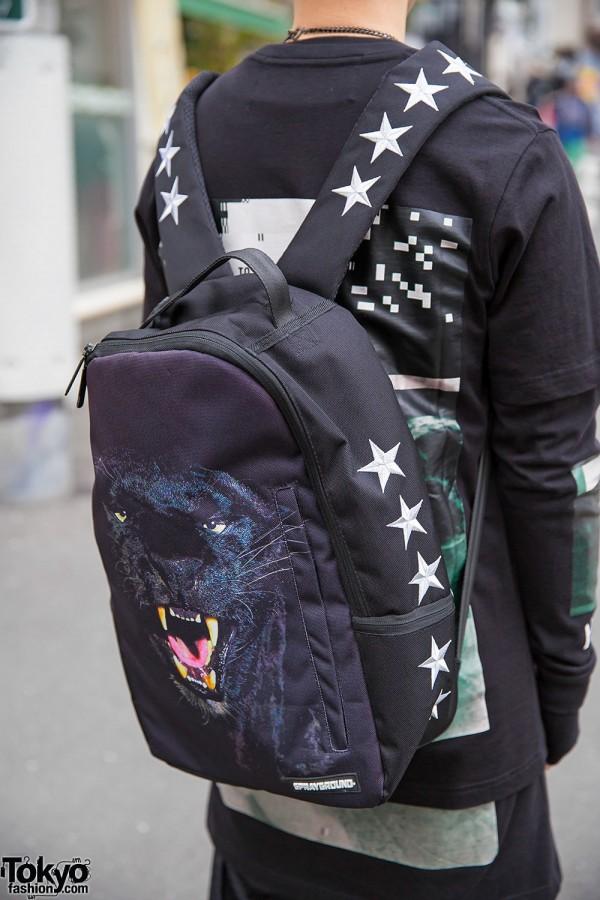 Harajuku Streetwear Guy W Hood By Air Pyrex Sprayground