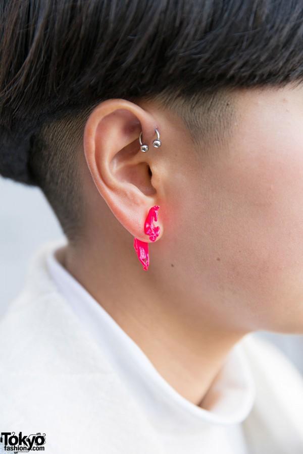 Neon Pink Earring