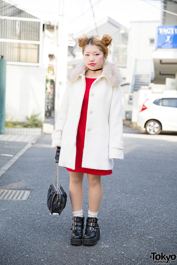 Twin Buns, RNA Purse, Bubbles Harajuku Ankle Boots & Butterfly Earrings