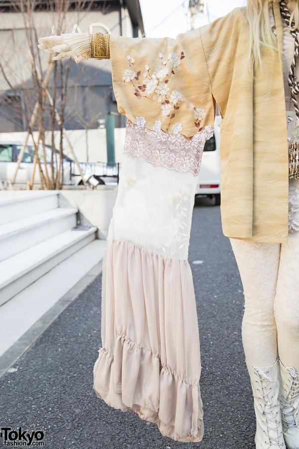 Kimono Sleeves Shironuri Fashion