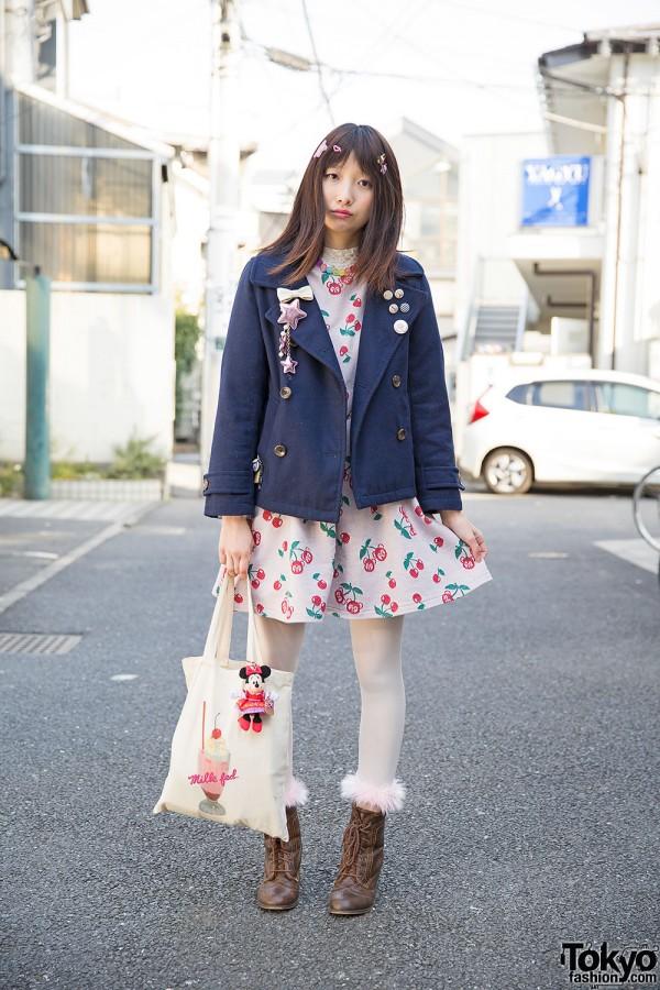 Candy Stripper Cherry Dress w/ Retro Girl, Milkfed, 6%DokiDoki & Avantgarde