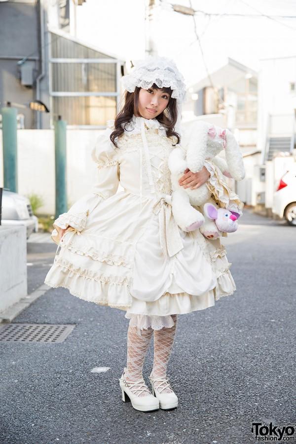 Baby, The Stars Shine Bright Lolita Style w/ Prism Paradise Bag & Plush Bunny