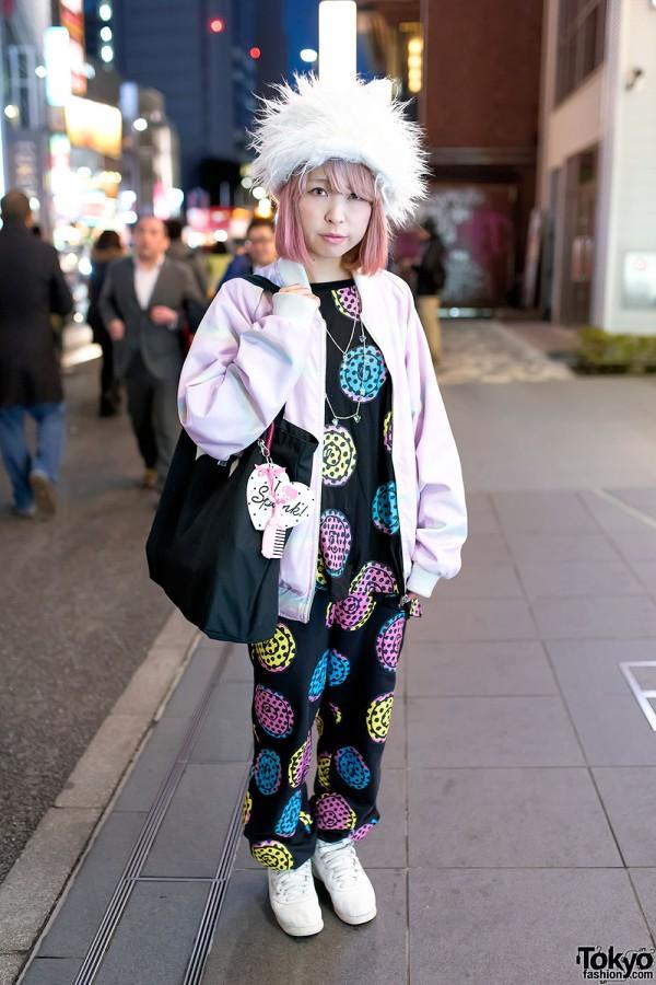 Harajuku Girl in Fuzzy Hat w/ Galaxxxy, Milkboy, Spank! & Joyrich