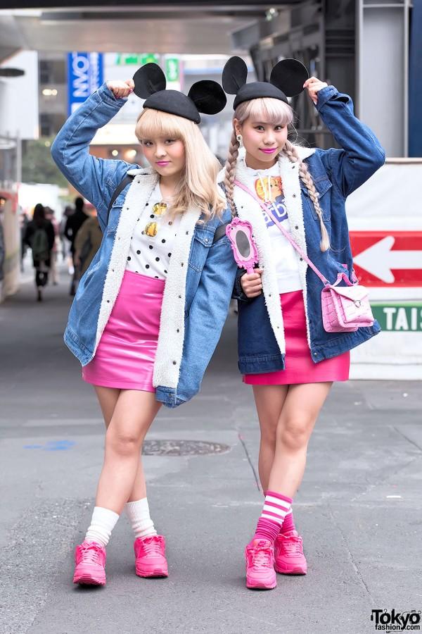 Barbie Girls w/ Vintage Fashion & Mouse Ears in Shibuya