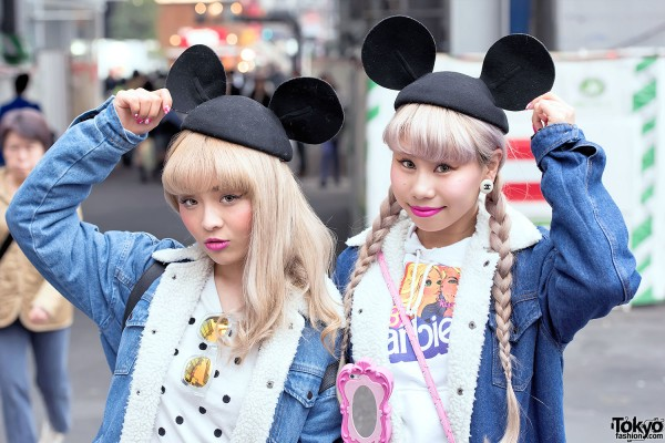 Cute Fashion & Mouse Ears in Shibuya