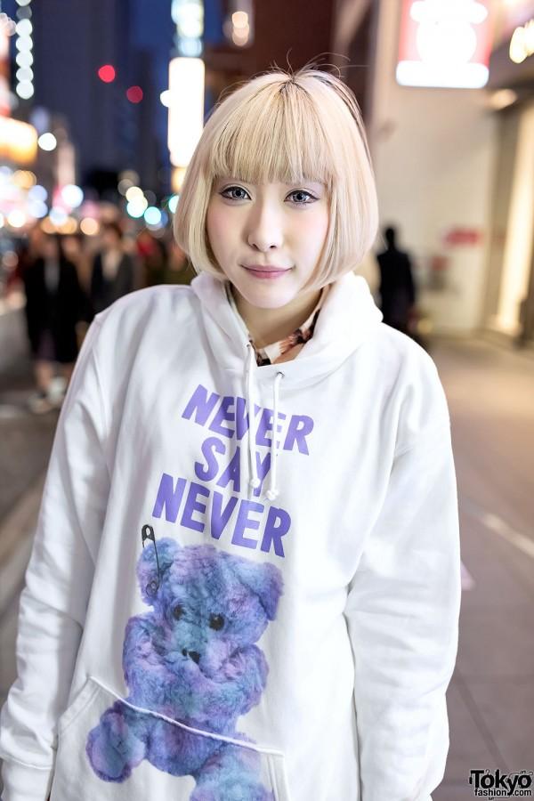 Milkboy Hoodie & Blonde Hair in Harajuku