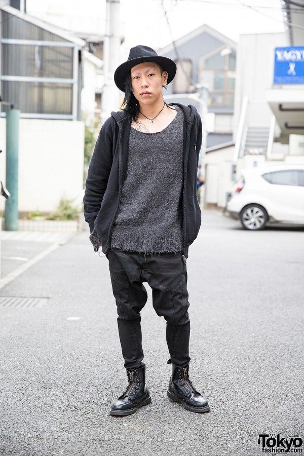 Harajuku Guy w/ Oz Abstract Jewelry, Drop Crotch Pants & Dr. Martens Boots