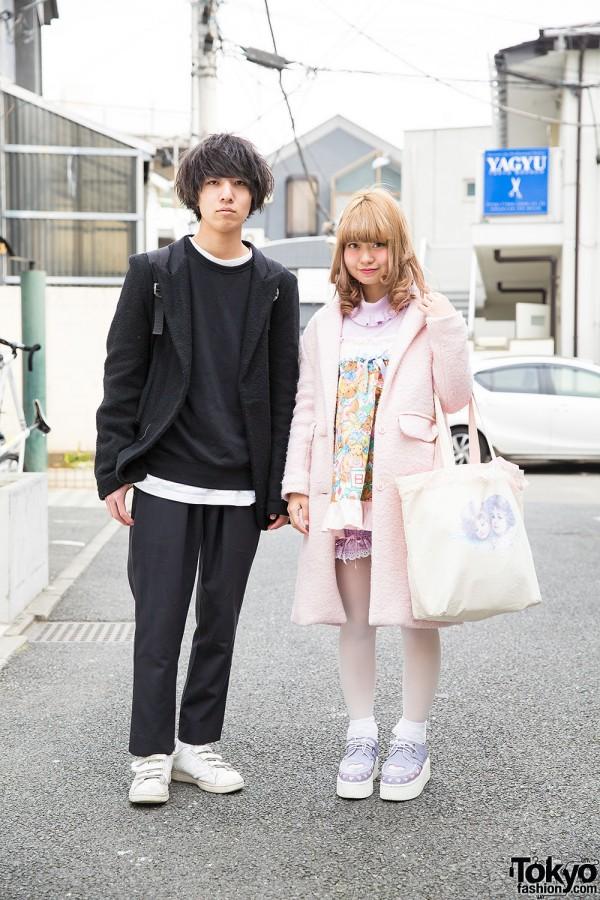 Harajuku Guy in Black & Girl in Pastels
