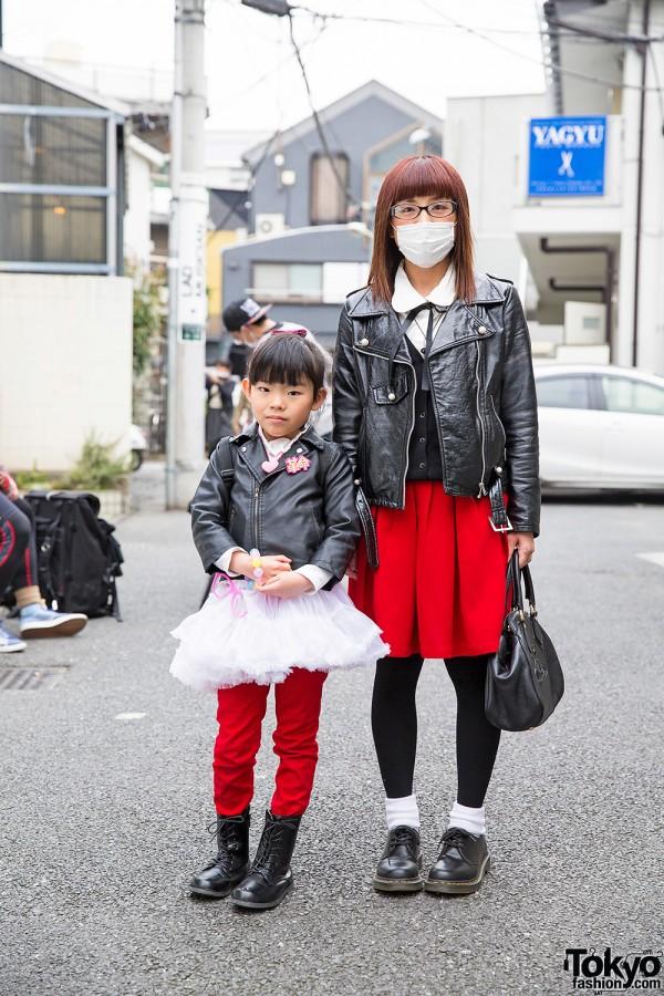 Harajuku Mother & Daughter in Biker Jackets w/ Vivienne Westwood, Milk & 6%DOKIDOKI