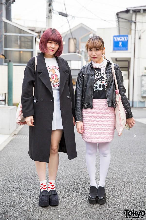 Harajuku Girls w/ Quilted Skirt, Platform Shoes, Milkfed, Panama Boy & Bubbles