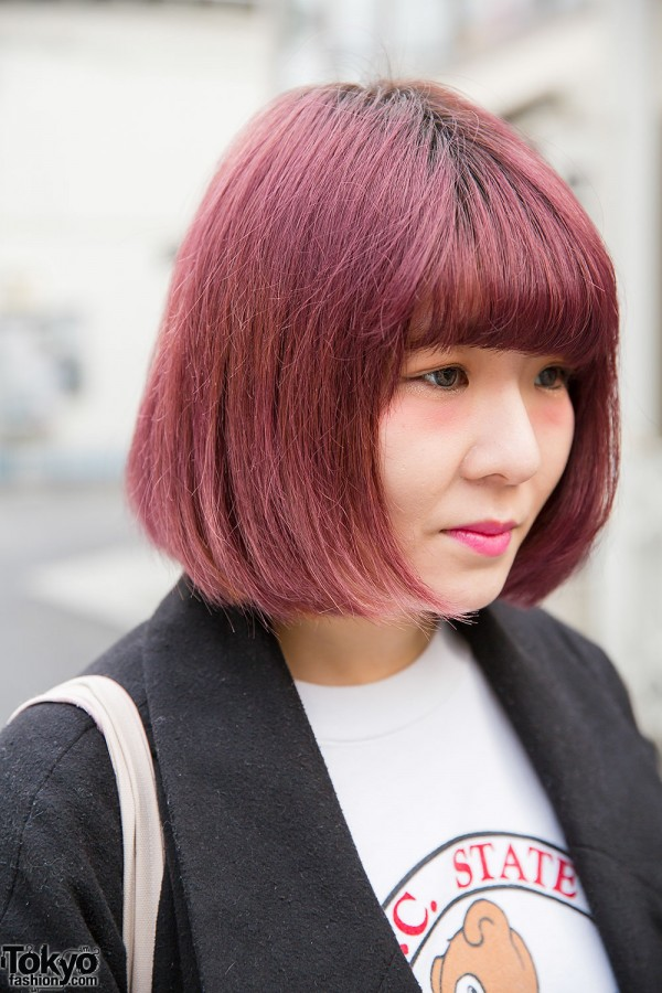 Purple Bob Hairstyle