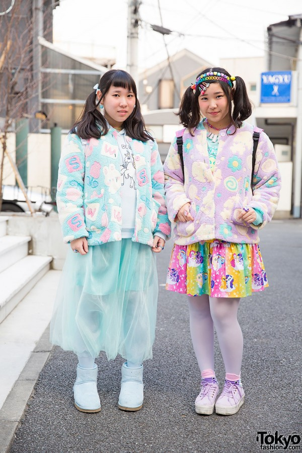 Harajuku Girls w/ Twin Tails, Swimmer, My Little Pony & 90884 Accessories