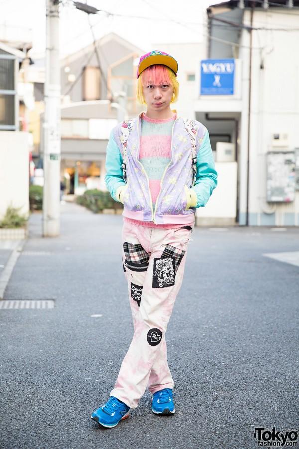 Harajuku Guy w/ Pink & Yellow Hair in 6%DokiDoki, Milkboy, RNA & Dress N Dazzle