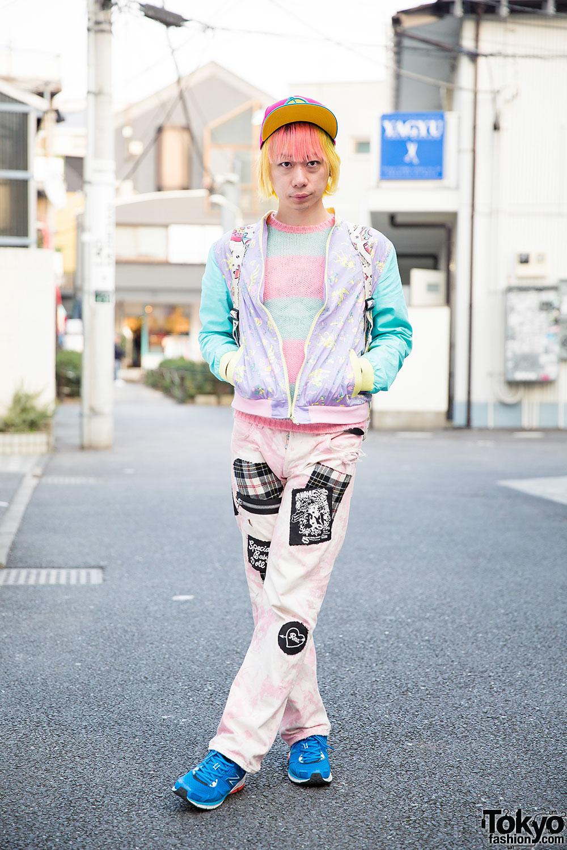 Harajuku Guy W Pink Amp Yellow Hair In 6 Dokidoki Milkboy