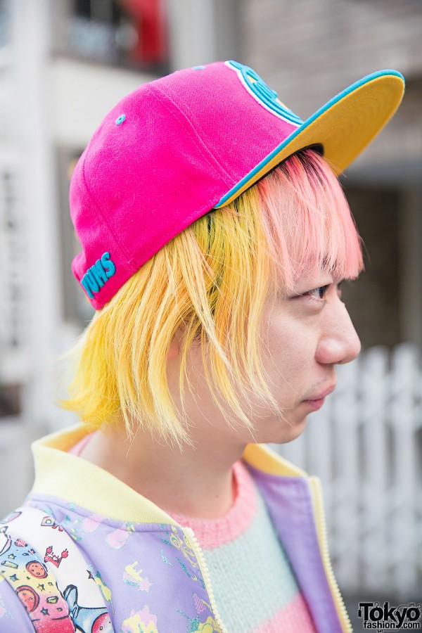 Pink & Yellow Hair