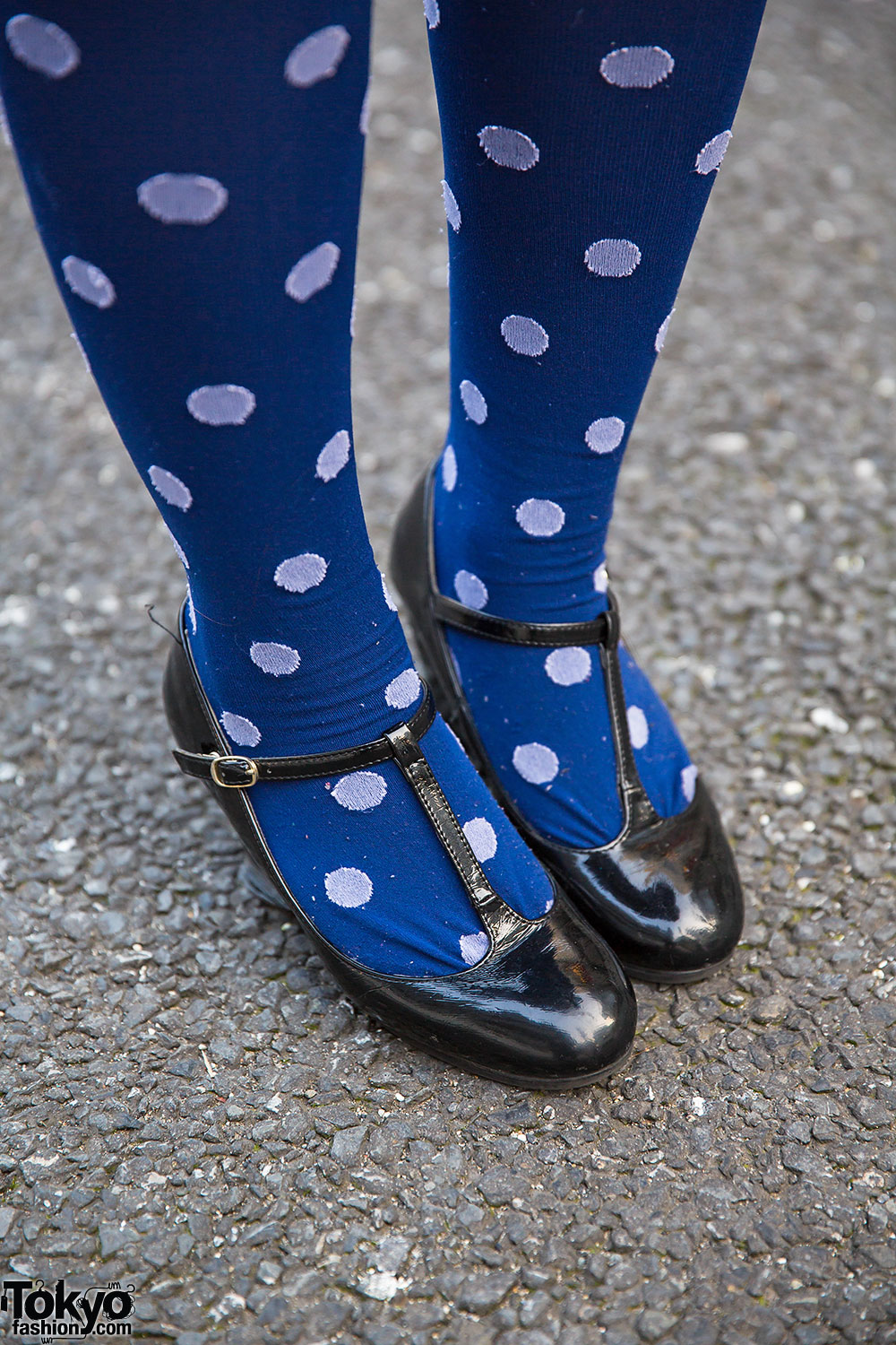 Harajuku Shironuri W Faux Fur Pug Bag Polka Dot Socks