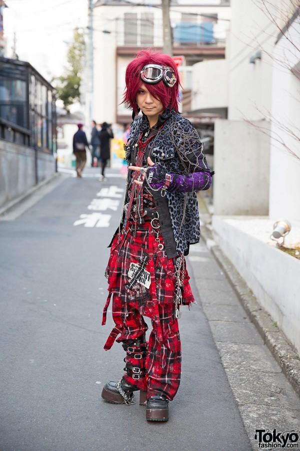 Air-K Records Owner in Sex Pot Revenge Harajuku Street Style