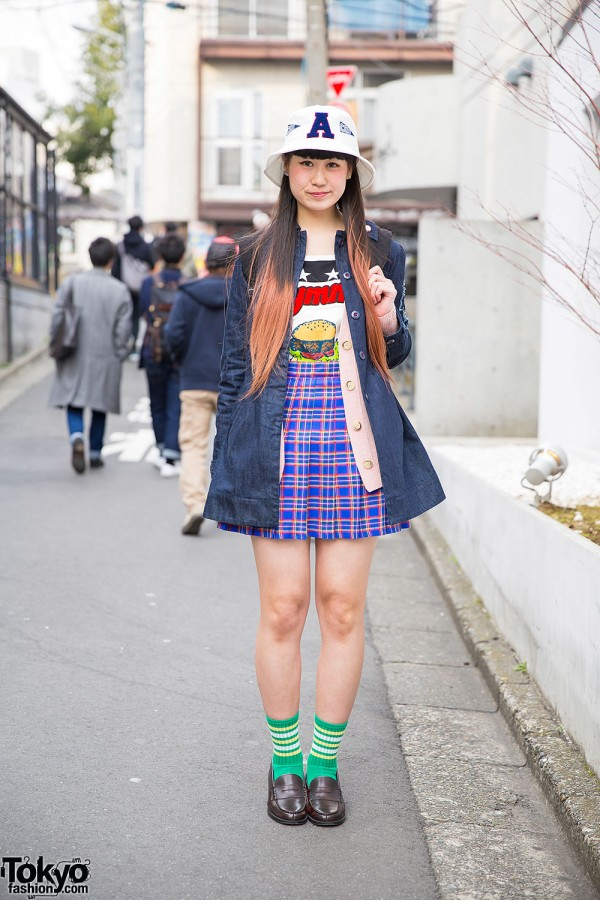 Aymmy In The Batty Girls Top Bubbles Harajuku Plaid Skirt