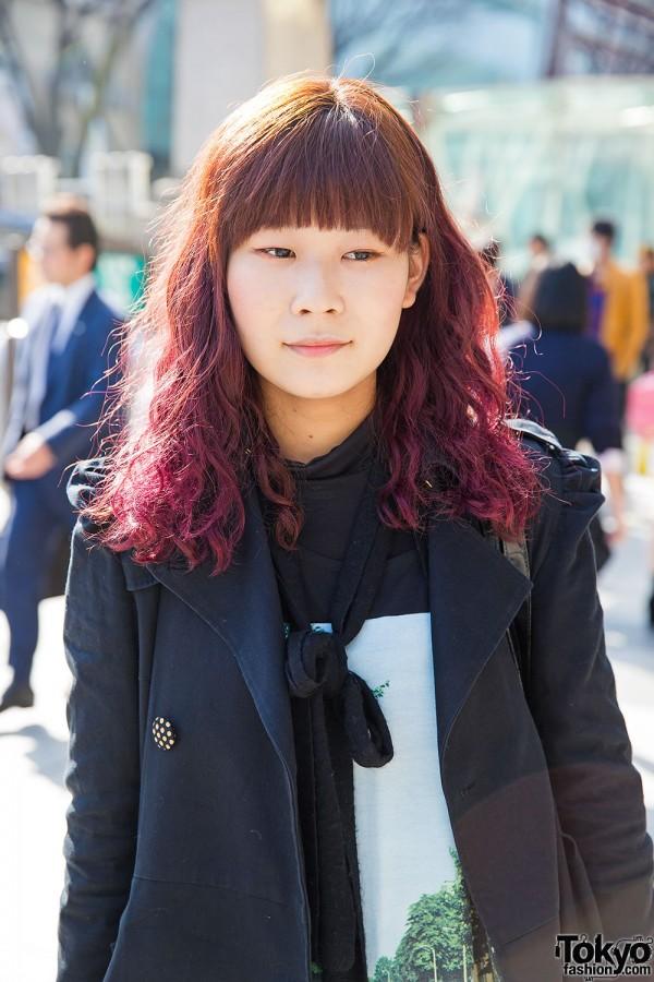 Pink Ombre Hair, Harajuku