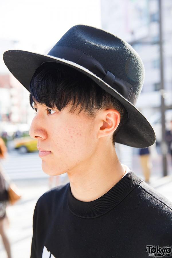 Minimalist Harajuku Guy in Hat
