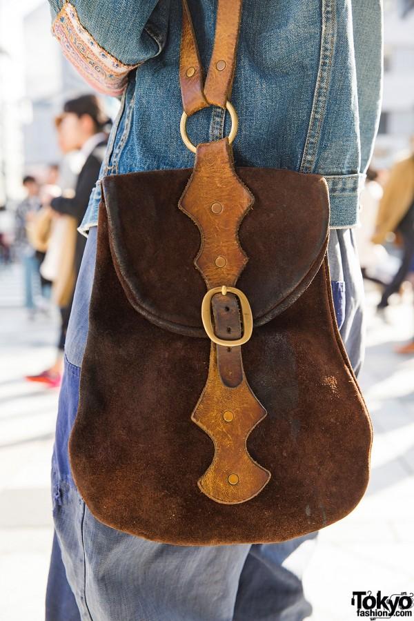 Vintage Suede Bag in Harajuku