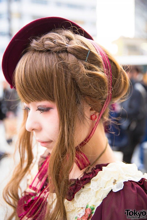 Braided Hairstyle with Lolita Hat