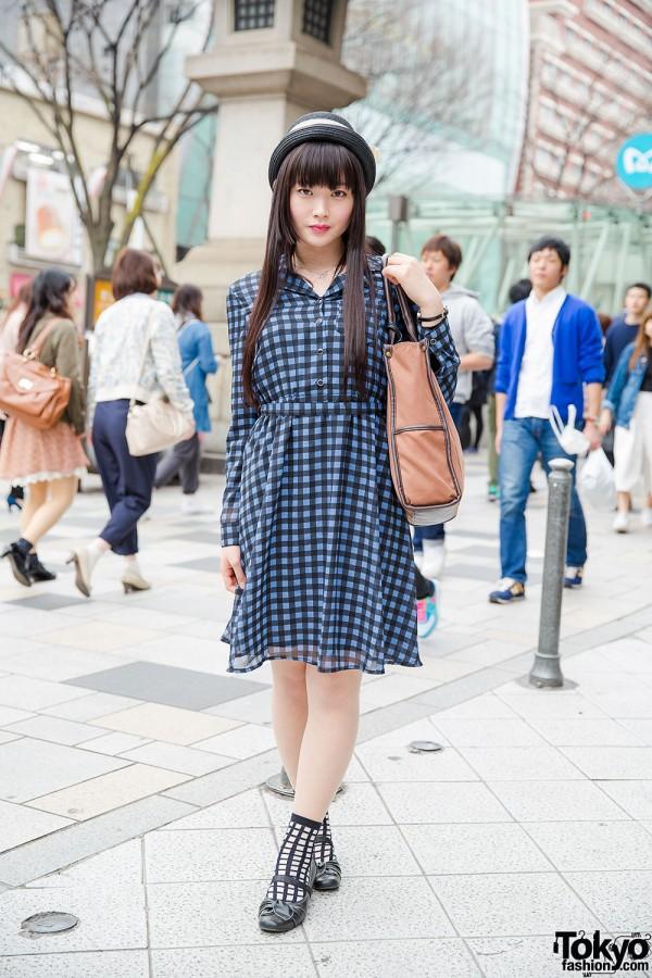 Harajuku Girl in GU Dress
