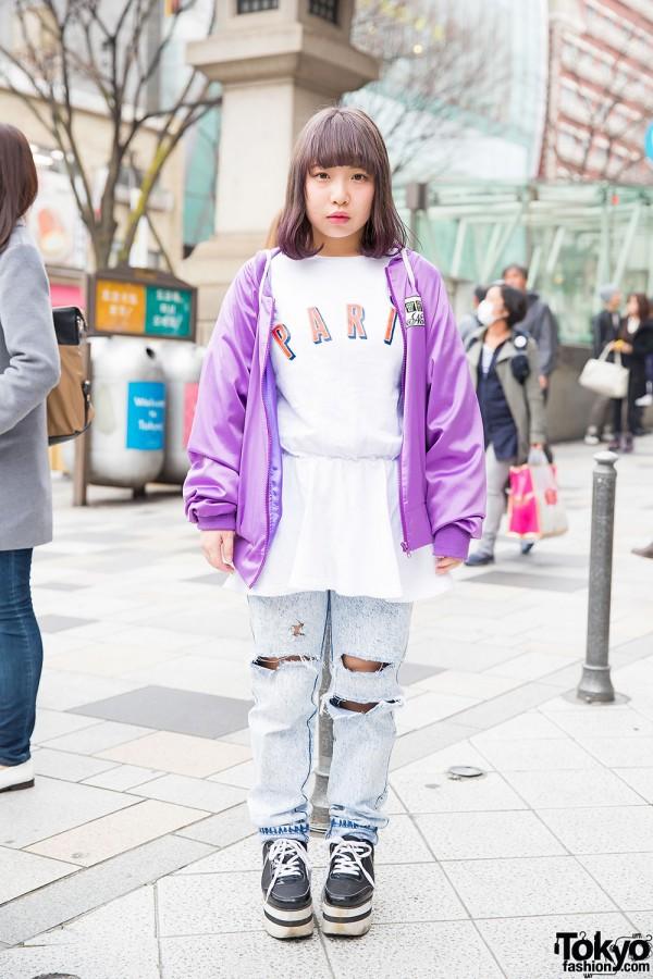 Nadia Harajuku Jacket, Joyrich, Ripped Jeans & Plush Backpack