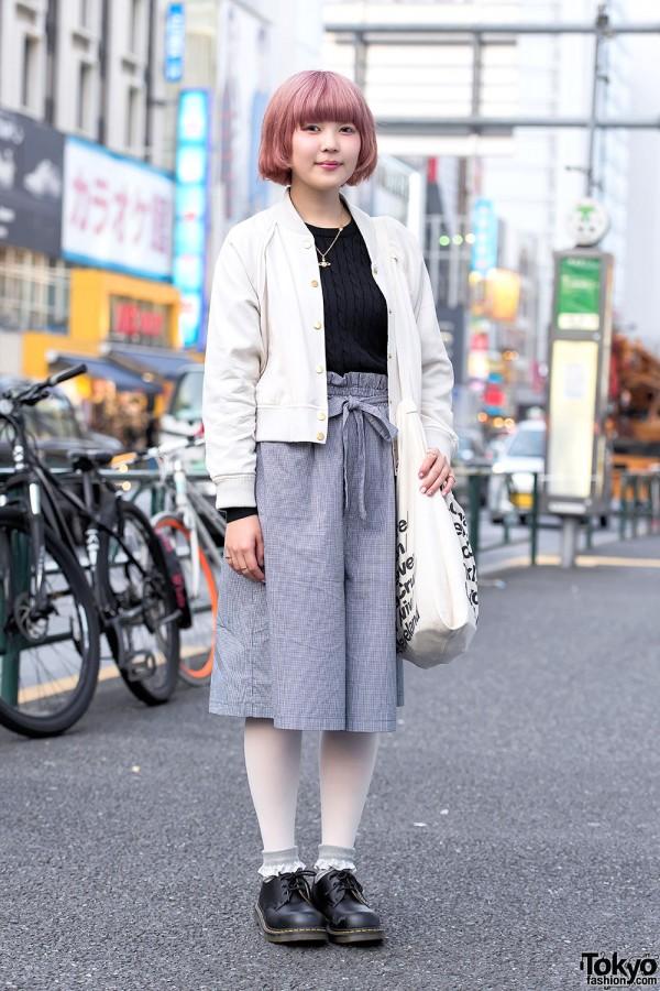 Light Bomber Jacket & KBF Skirt in Harajuku