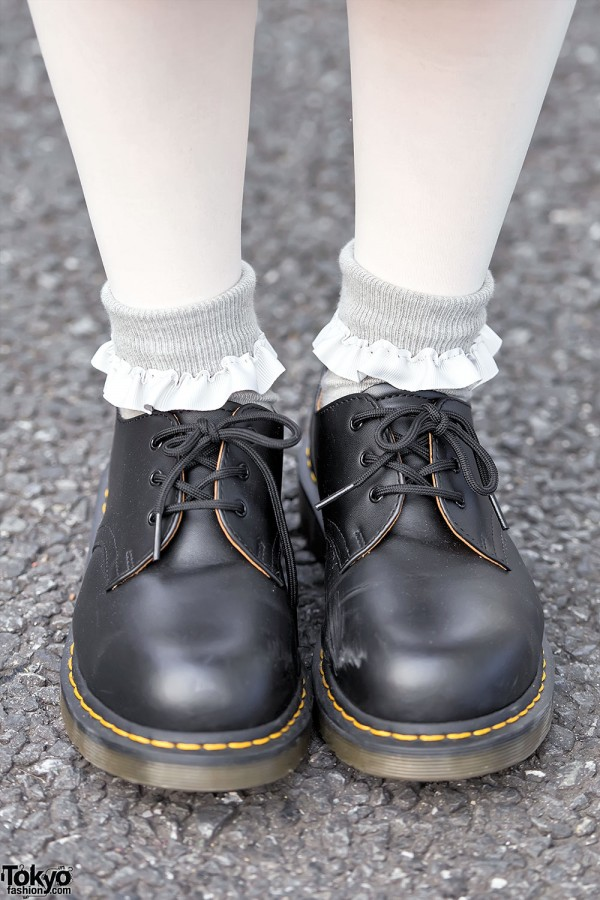Dr. Martens, Ruffle Socks & White Tights