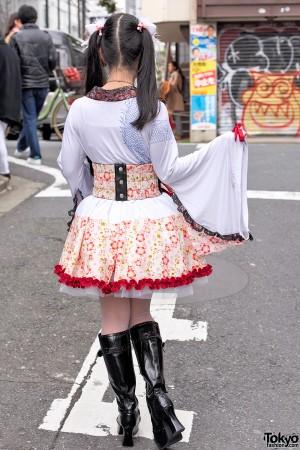 Harajuku Actress w/ h.Naoto Kimono Sleeve Top, Hangry