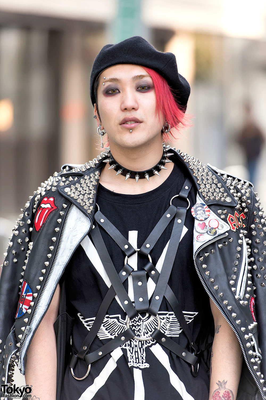 Punk Leather Jacket, Comme Des Garcons & Dr. Martens In