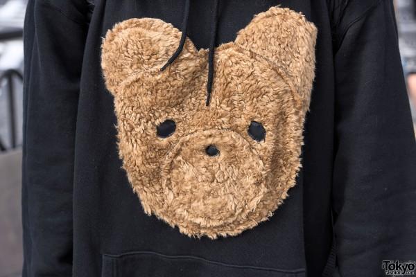 Teddy Bear Face Sweater in Harajuku