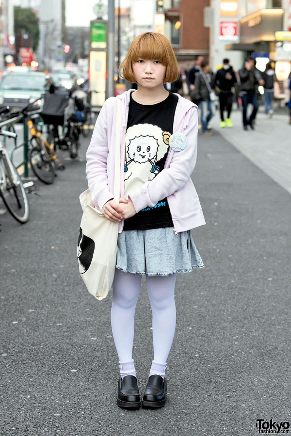 Kyuso Nekokami T-Shirt, The Bawdies Tote & Nile Perch Unicorns in Harajuku