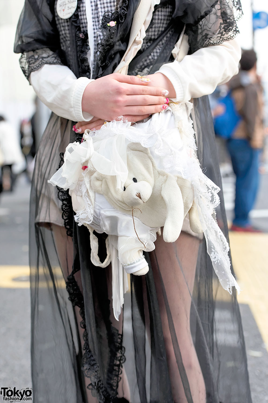 Pastel Bob Hair Vintage Fashion Gunifuni Teddy Bear Bag