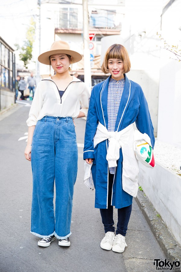 Goocy Wide Leg Jeans, Converse & Pro-Keds in Harajuku