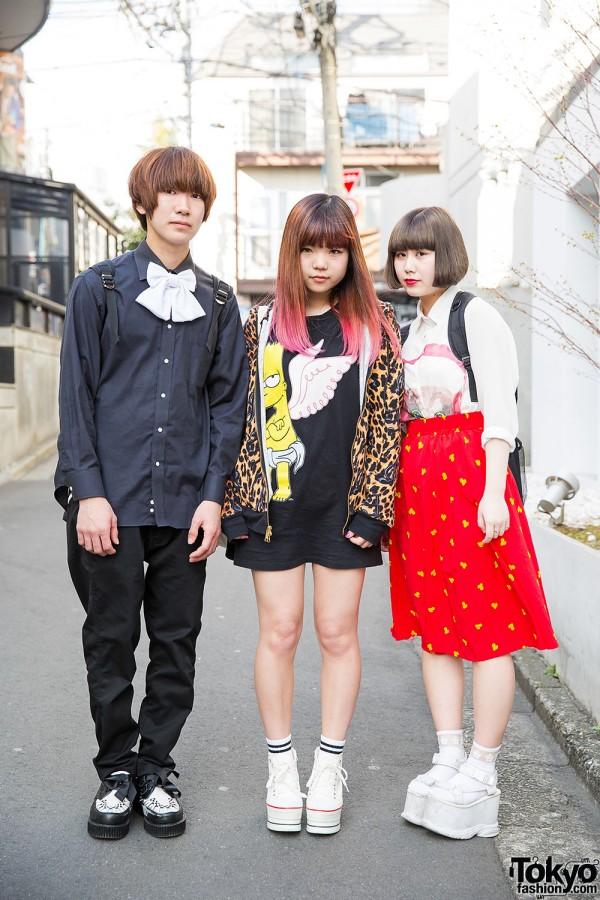 Harajuku Trio in WEGO, Spinns & Joyrich w/ Bart Simpson & Powerpuff Girls
