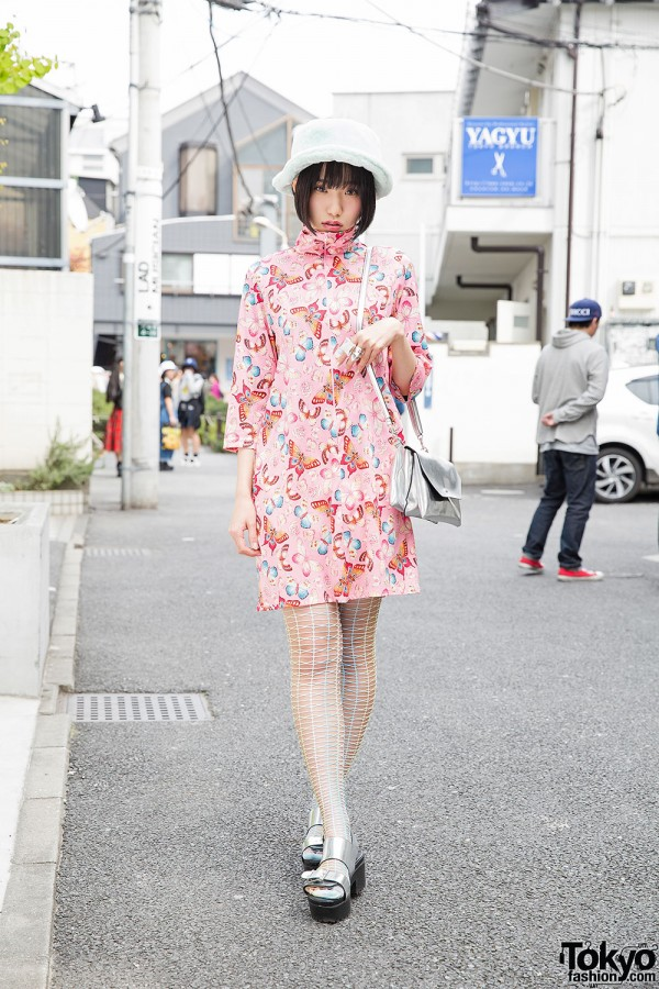 Butterfly Print Dress in Harajuku