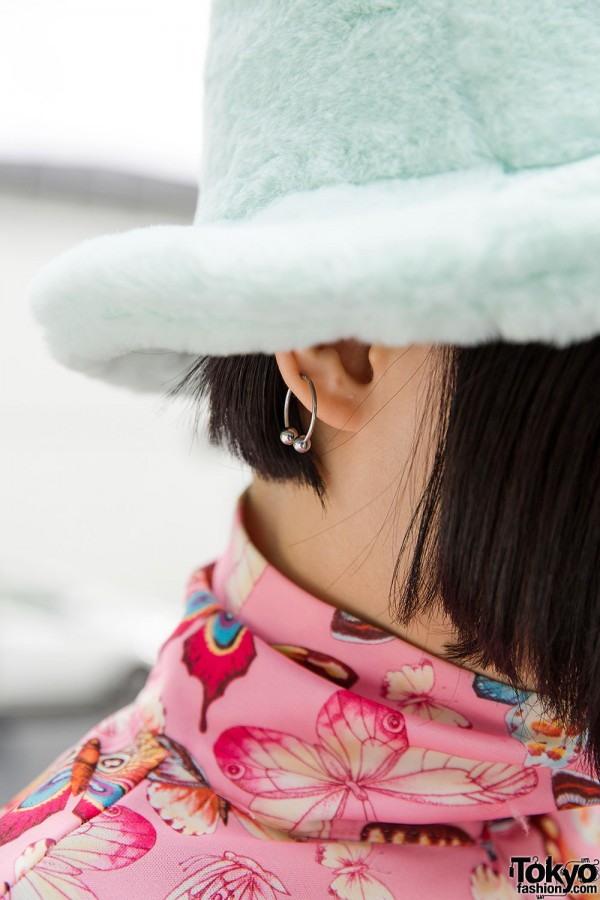 Hat & Earrings