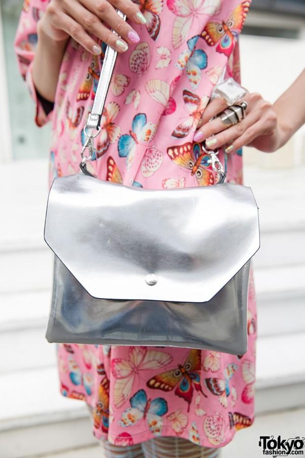 Monki Silver Bag