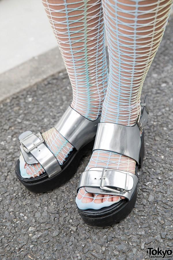Monki Silver Sandals