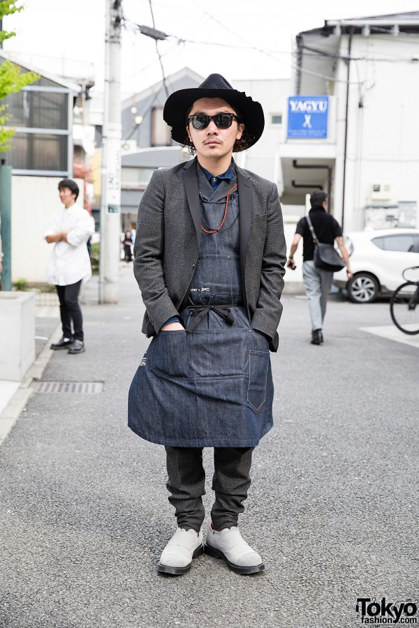 Li Lium's Art Comes First Outfit w/ Sawa Vaughters Hat in Harajuku