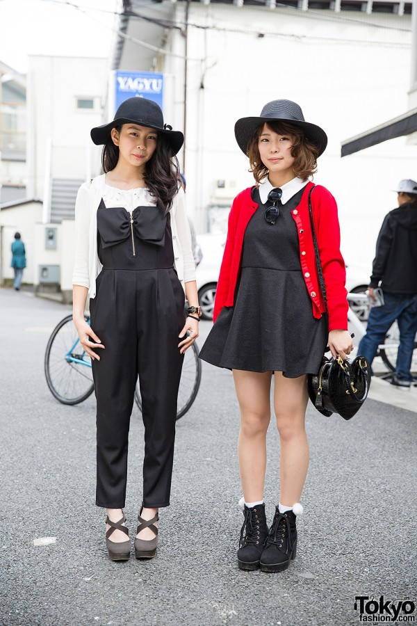 Harajuku Girls in Hats w/ Cecil McBee Jumpsuit, Chanel, Marc Jacobs & Vivienne Westwood