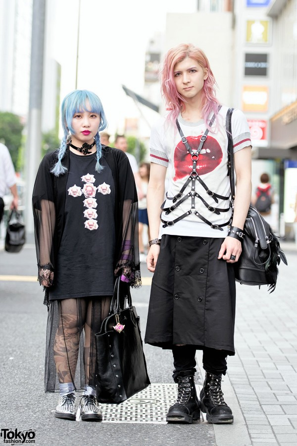Devil666ish Designers in Harajuku w/ Harness, Avantgarde Tights & Vivienne Westwood