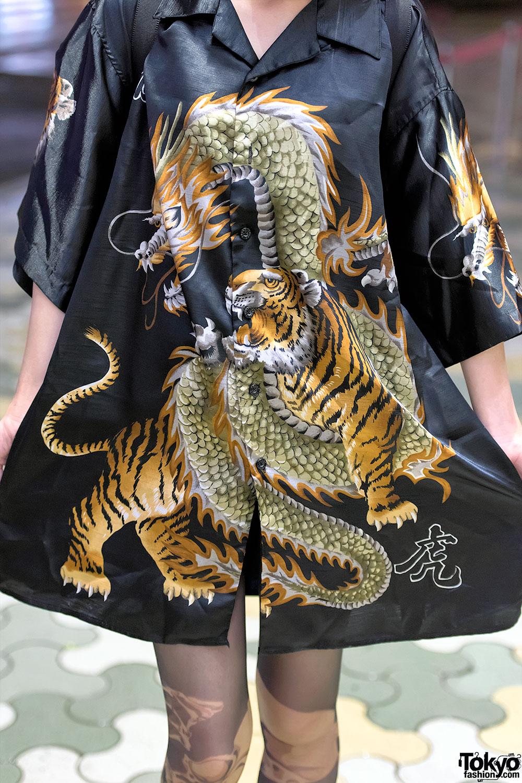 Dragon Vs Tiger Top Avantgarde Tights Myob Nyc Bag